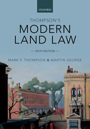 Thompson's Modern Land Law$