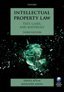 Intellectual Property Law:Text, Cases, and Materials