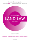 Land Law ConcentrateLaw Revision and Study Guide$