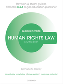 Human Rights Law ConcentrateLaw Revision and Study Guide