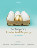 Contemporary Intellectual PropertyLaw and Policy