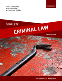 Complete Criminal LawText, Cases, and Materials