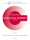 Intellectual Property Law ConcentrateLaw Revision and Study Guide$