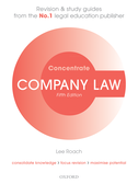 Company Law ConcentrateLaw Revision and Study Guide