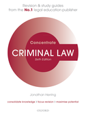 Criminal Law ConcentrateLaw Revision and Study Guide