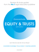 Equity & Trusts ConcentrateLaw Revision and Study Guide$