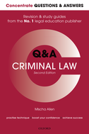Concentrate Q&A Criminal Law 2eLaw Revision and Study Guide