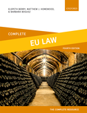 Complete EU LawText, Cases, and Materials