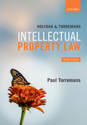 Holyoak and Torremans Intellectual Property Law$