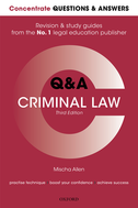 Concentrate Q&A Criminal LawLaw Revision and Study Guide