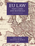 EU LawText, Cases, and Materials